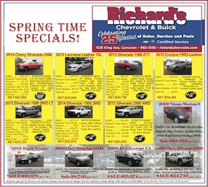 Richards Chevrolet Spring Time Specials
