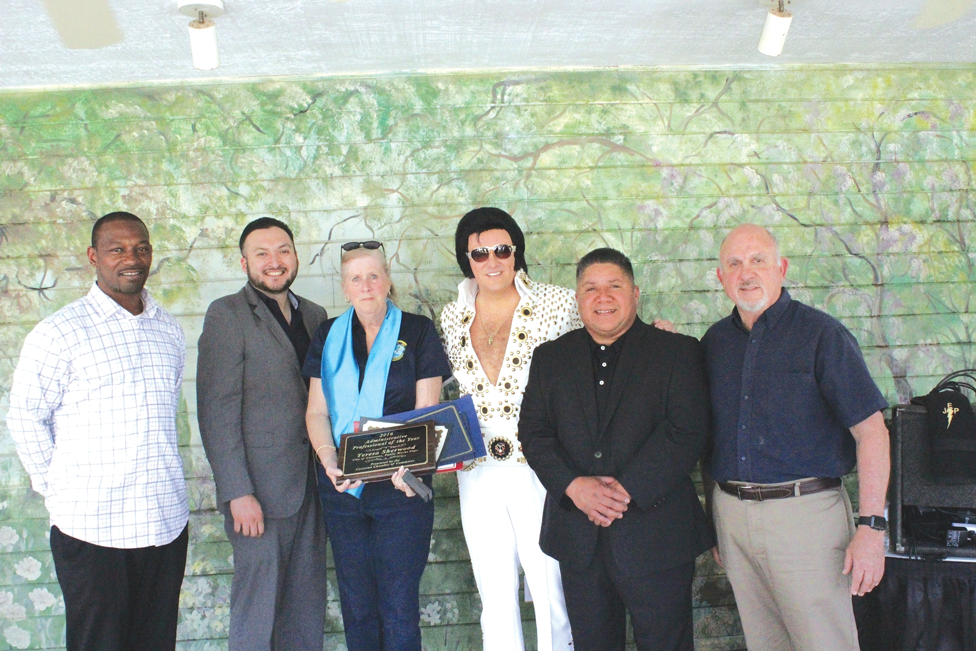 Elvis attends administrative luncheon