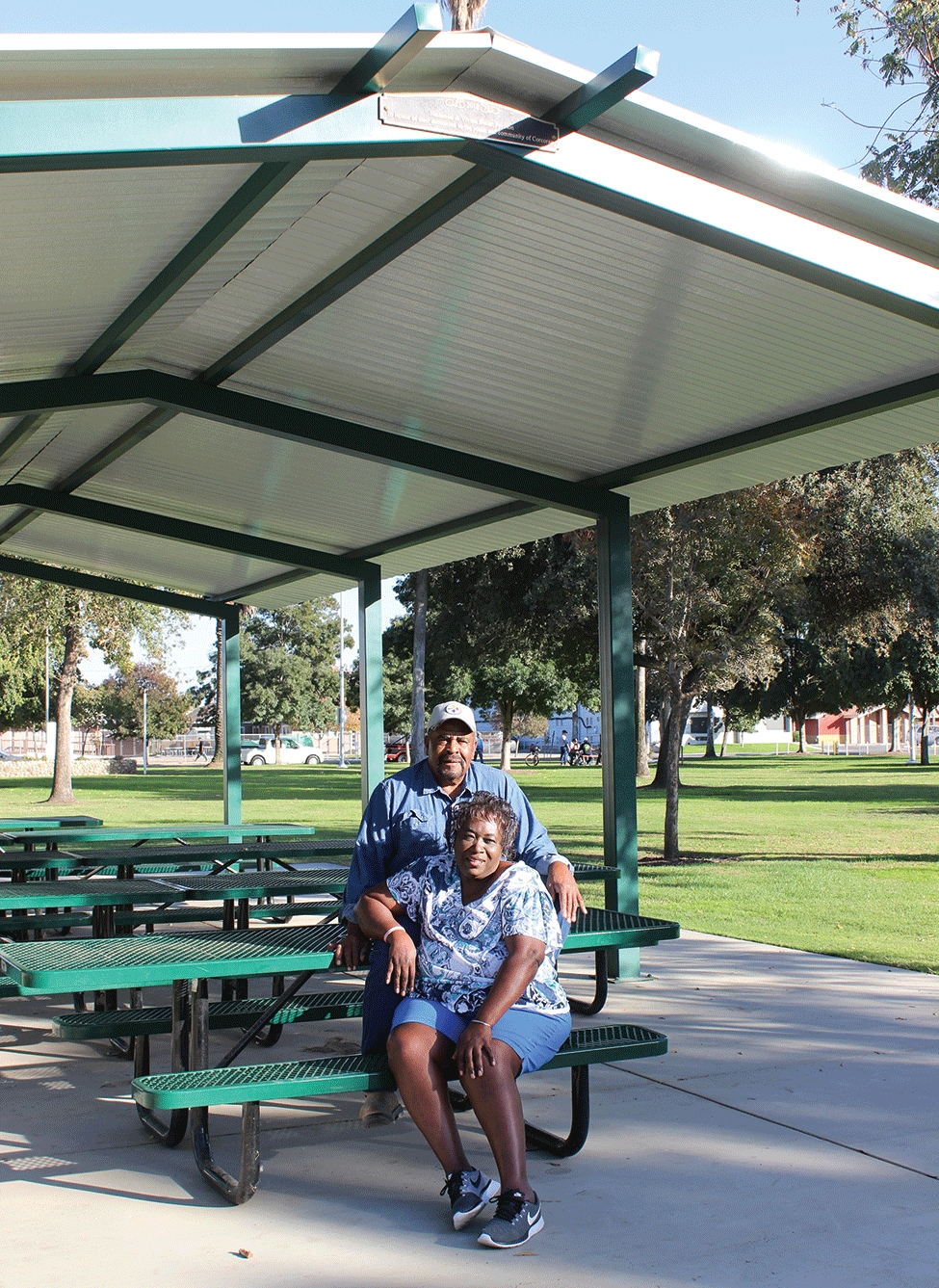 Park pavilion dedicated to Nate and Vivian Butler