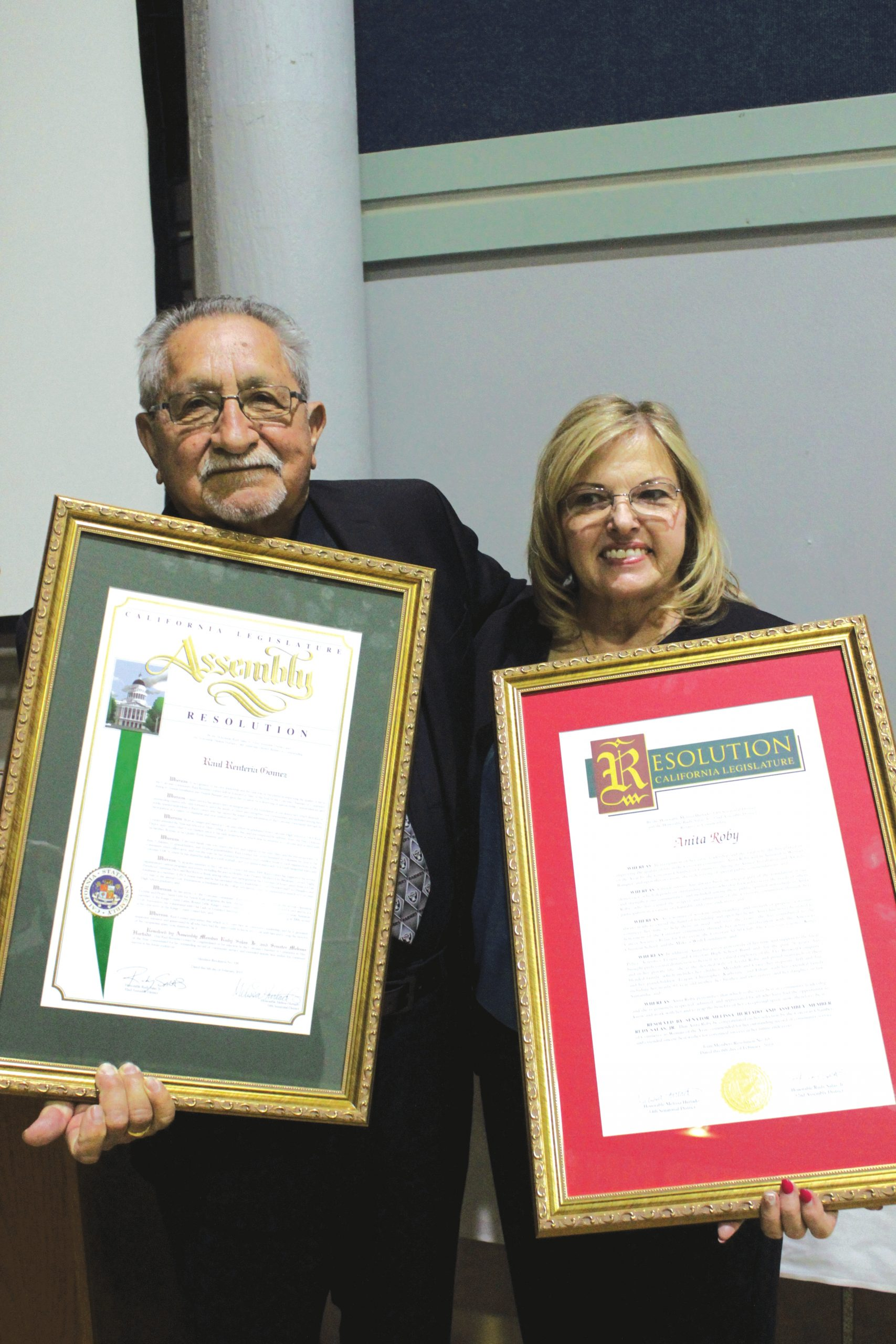 Gomez, Roby honored as top citizens