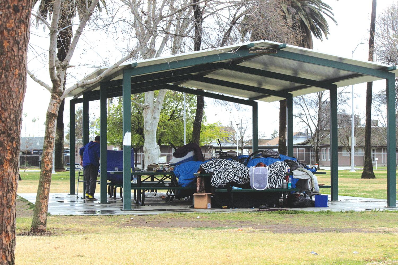 Homeless problem evident at John Maroot Park