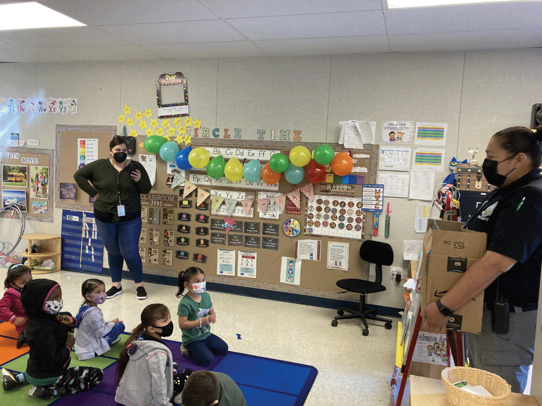 Kiwanis Club of Corcoran donated new books to Bret Harte preschool students